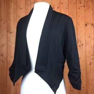 Poetry Clothing Black Tailored Cropped Suit Coat L